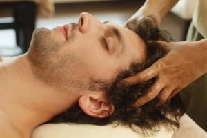 hoofdmassage man